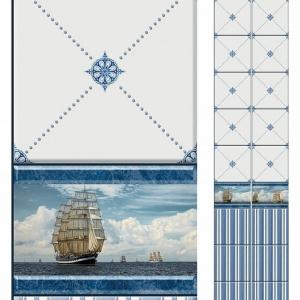 Стеновая панель ПВХ КронаПласт UNIQUE Корабли